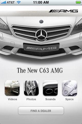 mercedes c63 amg Brand Marketing via Iphone Apps