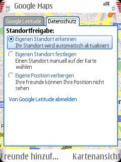 screenshot0012 Google Latitude: Freunde orten leicht gemacht