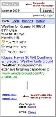 search results Google started Werbung in mobilen Suchergebnissen