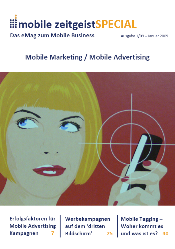 titelblatt 01 09 mobile zeitgeist SPECIAL: Mobile Marketing und Mobile Advertising