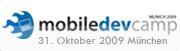 090917 weiss button Event: mobiledevcamp München