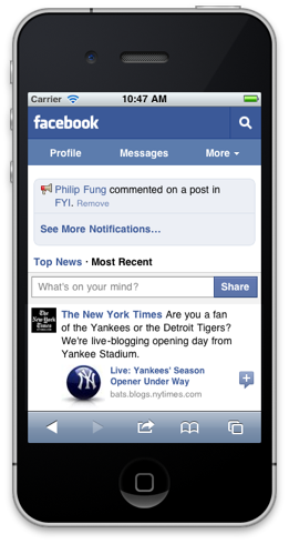 facebookmobile Neue mobile Version von facebook