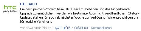 Facebook 1308213004282 [Update] Bestätigt: HTC Desire bekommt Gingerbread