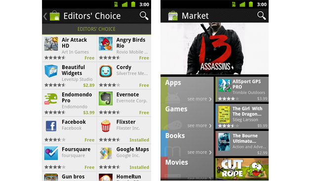 android marketnew2 Update für den Android Market
